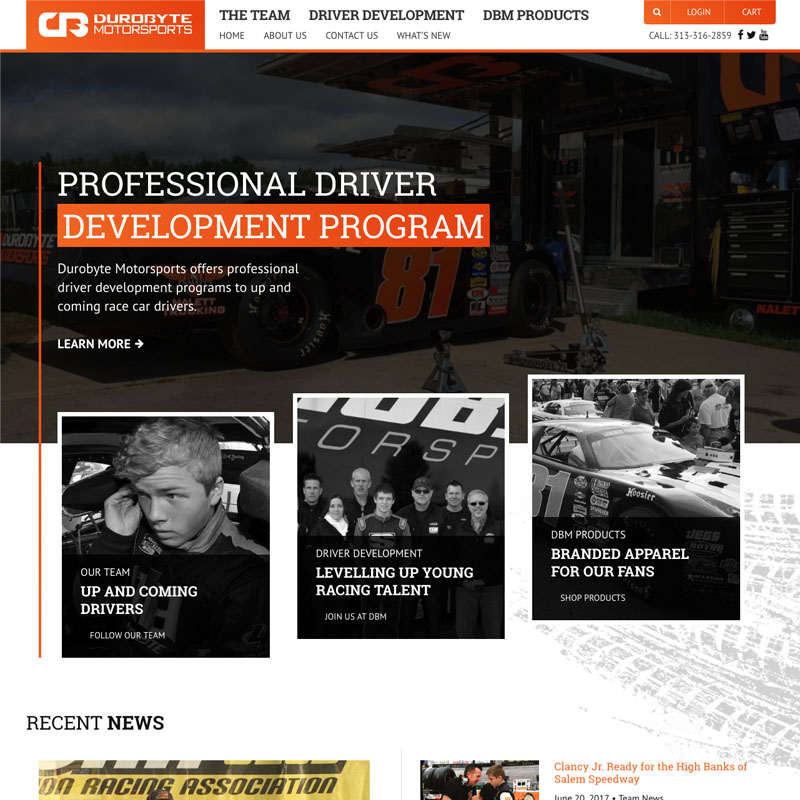 WordPress Website for DuroByte Motorsports